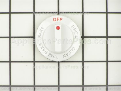 Whirlpool Knob, Selector (designer White) 4371676 from AppliancePartsPros.com
