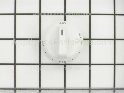 Whirlpool Knob, Top Burner (white) 31760505W from AppliancePartsPros.com