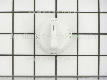 Whirlpool Knob, Top Burner (white) 31760505W from AppliancePartsPros.com