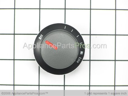 Whirlpool Knob, Top Burner (blk Y0300705 from AppliancePartsPros.com
