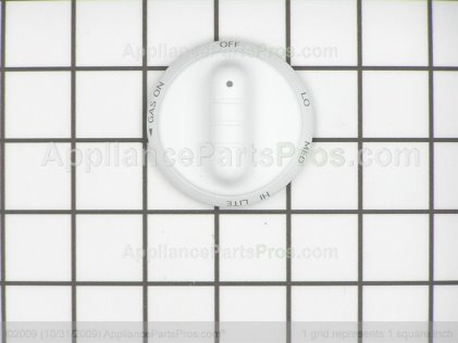 Whirlpool Knob, Top Burner (wht Y0304731 from AppliancePartsPros.com