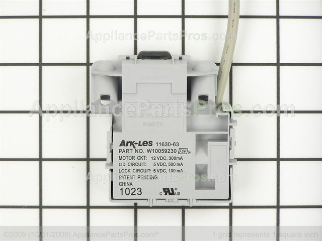 Whirlpool W10059230 Lid Latch Assembly