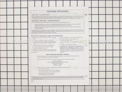 Whirlpool Manual, Use & Care 8113P046-60 from AppliancePartsPros.com