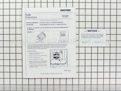 Whirlpool Motor-Drve W10197708 from AppliancePartsPros.com