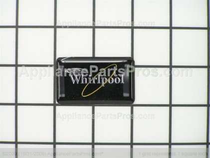 Whirlpool Nameplate (black) 2152334 from AppliancePartsPros.com