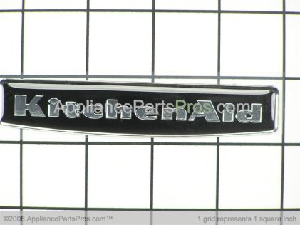Whirlpool Nameplate (black) 2212762 from AppliancePartsPros.com