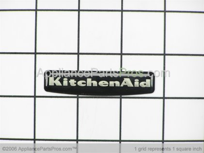 Whirlpool Nameplate (black) 3191514 from AppliancePartsPros.com