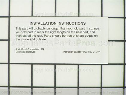 Whirlpool Pan Trim 2176357 from AppliancePartsPros.com