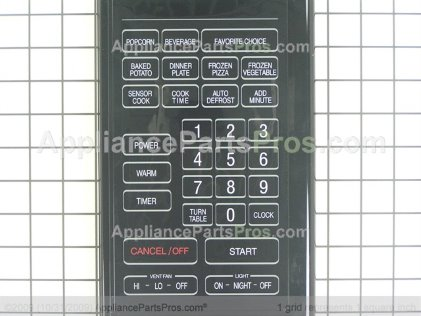 Whirlpool Panel, Control/membrane (blk) 56001314 from AppliancePartsPros.com
