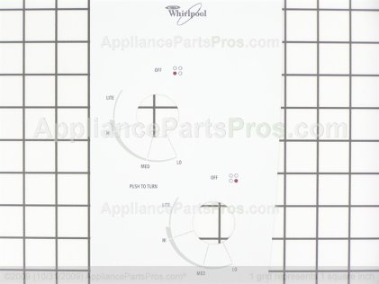 Whirlpool Panel, Control (white) 8286503 from AppliancePartsPros.com