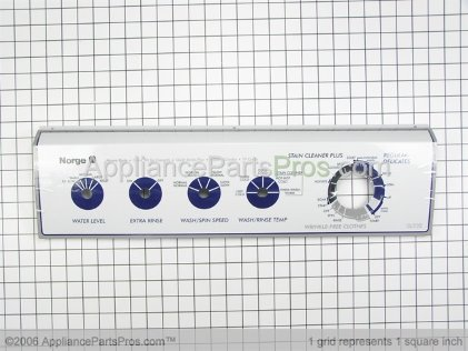 Whirlpool Panel, Control (wht) 21001784 from AppliancePartsPros.com
