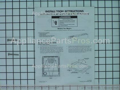 Whirlpool Panel, Full Front W/nameplate (biscuit) 8531941 from AppliancePartsPros.com