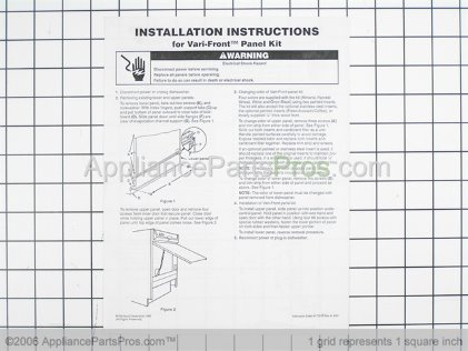 Whirlpool Panel Insert Kits (white/black) 4162833 from AppliancePartsPros.com
