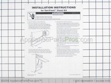 Whirlpool Panel Insert Kits (white/black) 4162833 from AppliancePartsPros.com