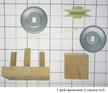 Whirlpool Pulley-Motor 3967487 from AppliancePartsPros.com
