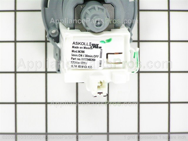 whirlpool pump drain wpw10348269 ap6020066_05_l whirlpool wpw10348269 drain pump appliancepartspros com Askoll Bosch Pumps at n-0.co