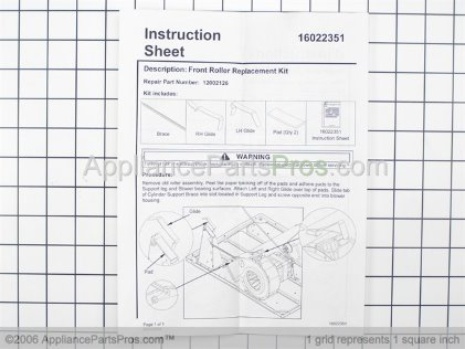 Whirlpool Reinforcement Brace/ 12002126 from AppliancePartsPros.com