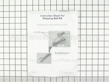 Whirlpool Shipping Bolt Kit W10289554A from AppliancePartsPros.com