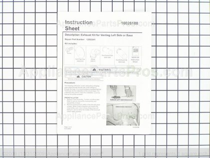 "Whirlpool Side Vent Kit (27"") 12002641 from AppliancePartsPros.com"