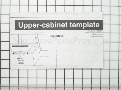 Whirlpool Template 8205926 from AppliancePartsPros.com