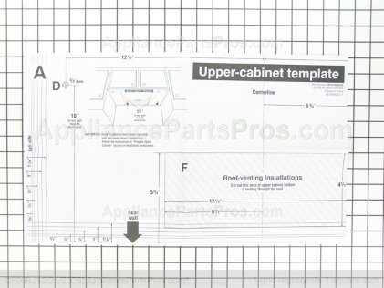 Whirlpool Template W10190018 from AppliancePartsPros.com