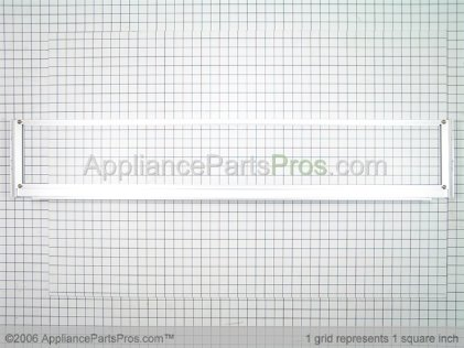 Whirlpool Top Grille Assembly (etched Aluminum) 2257403X from AppliancePartsPros.com