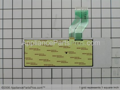 Whirlpool Touchpad (blk) 53001316 from AppliancePartsPros.com