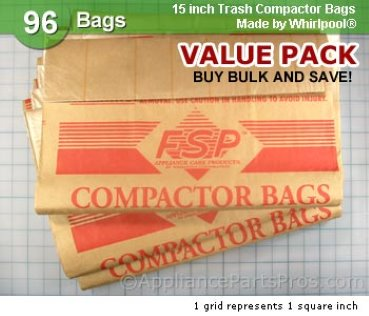 Whirlpool Universal Bags 96 Pack 675186BULK from AppliancePartsPros.com
