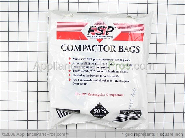 Wonderful Whirlpool Universal Trash Compactor Bags W10165296RP From  AppliancePartsPros.com
