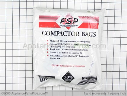 Whirlpool Universal Trash Compactor Bags W10165296RP from AppliancePartsPros.com