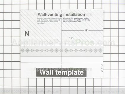 Whirlpool Wall Template 8183743 from AppliancePartsPros.com