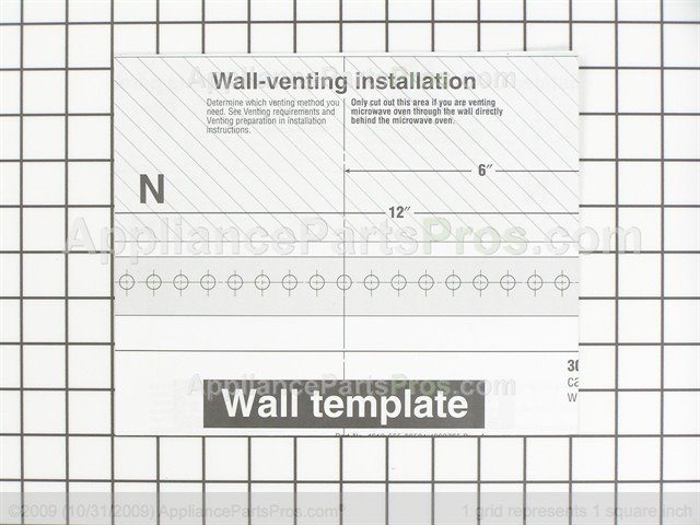 Whirlpool 8183743 Wall Template