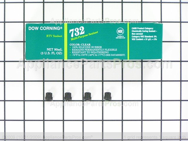 00637940 Bosch Appliance Rubber Foot with Adhesive