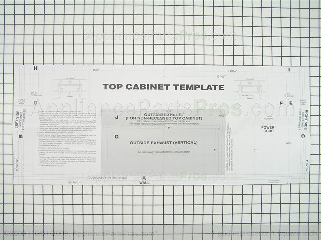 New Frigidaire Microwave top Cabinet Template