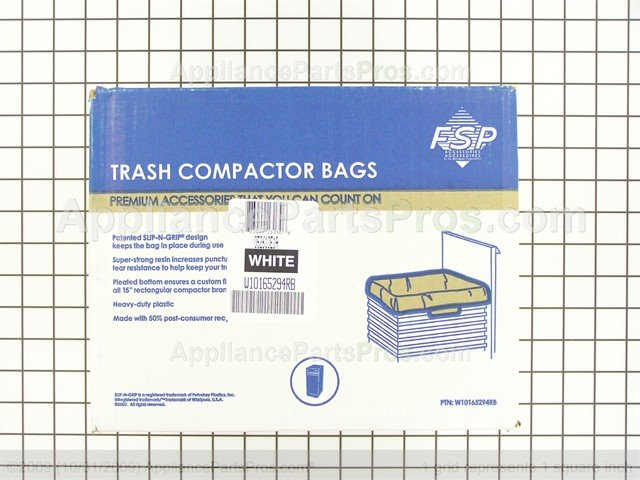 Whirlpool Trash Compactor Bags W10165294rb From Liancepartspros