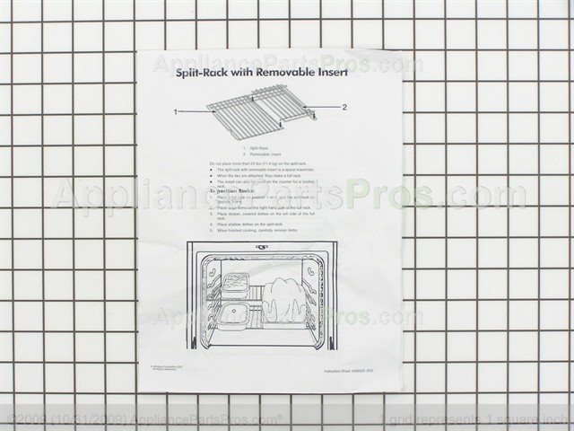 Whirlpool 4396927 Rack Oven Appliancepartspros Com
