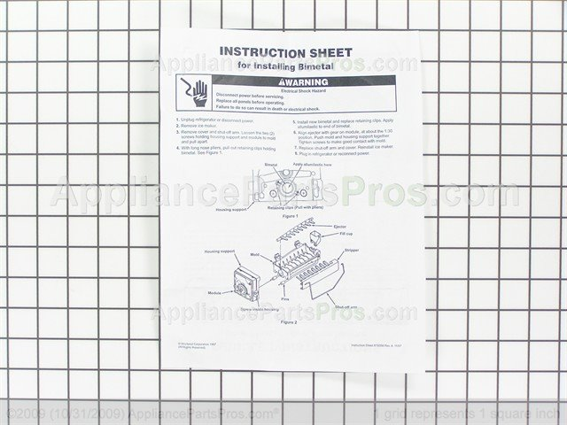 whirlpool wp627985 icemaker cycling thermostat