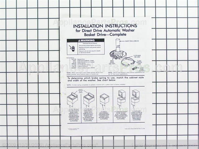Whirlpool W10820043 Basktdrive Appliancepartspros